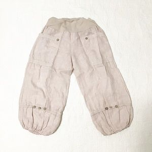 Made in Italy 100% Linen Capri Pants